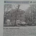 Der Bremer Anzeiger berichtete am 16. Januar 1999 über die Errichtung des Verbindungshauses des VDSt zu Bremen